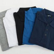 חולצת פולו עם כיס שרוול קצר