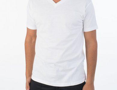 חולצת טריקו צווארון וי שרוול קצר