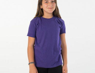 חולצת טריקו ילדים צווארון עגול שרוול קצר