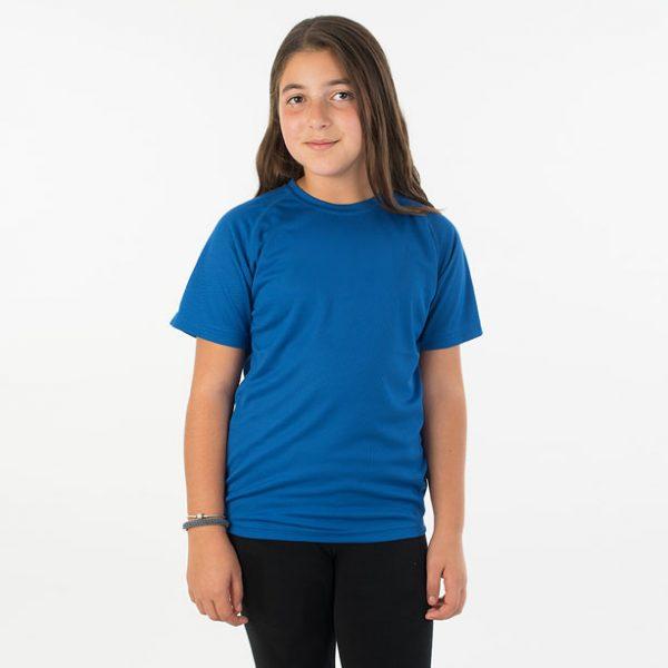 חולצת דרייפיט ילדים צווארון עגול שרוול קצר